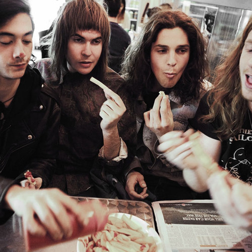 Dylan, Paddy, Beaker and Seamus from Sticky Fingers